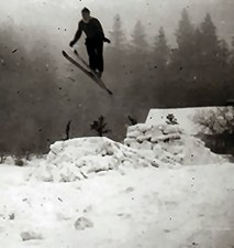 Ski jumping on a small hill